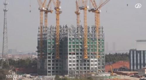 19日間で57階建てのビルを建てる?++19天蓋57層樓 你敢住嗎?++