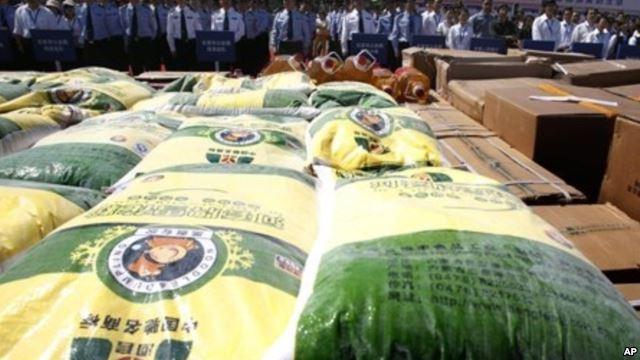 インドネシアで中国産偽造米を摘発