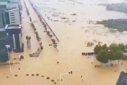 水没した武漢市